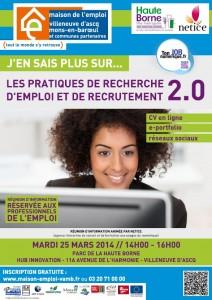 Emploi et Recrutement 2.0, le 25 mars au HuB innovation