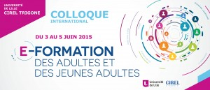 Colloque scientifique e-Formation 2015 #innovation
